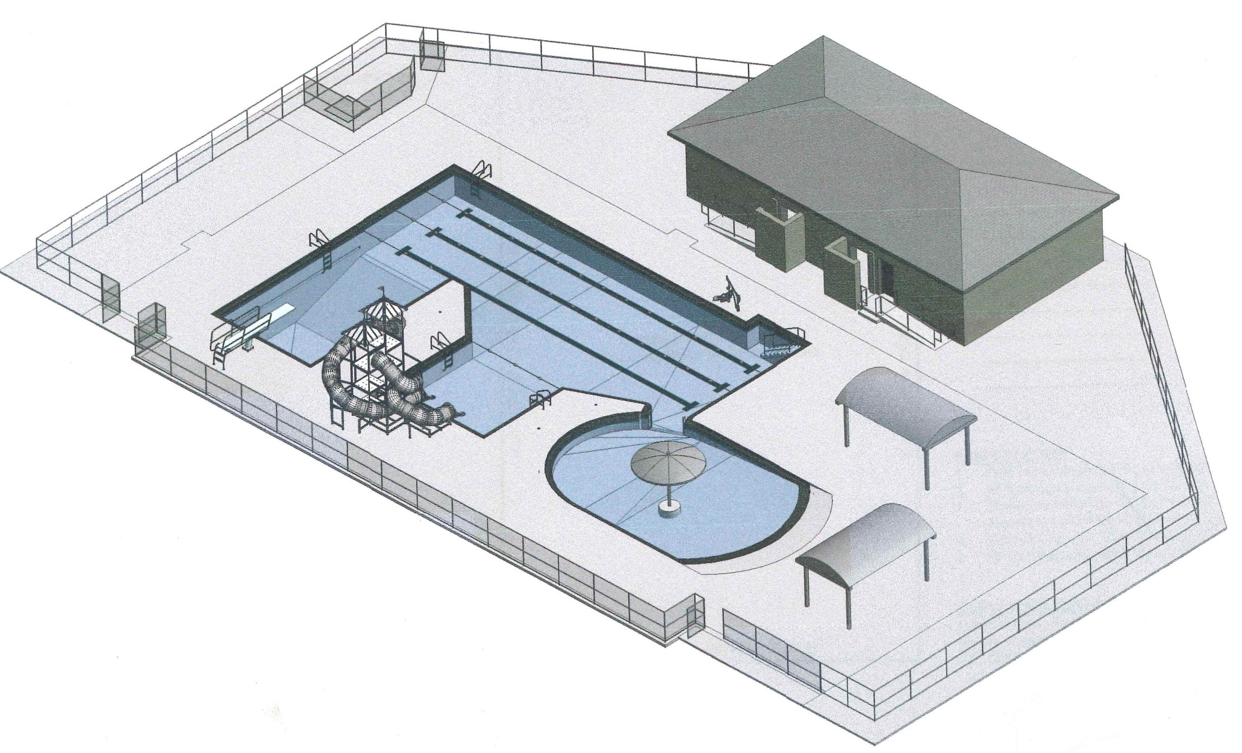3D view of pool